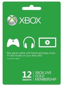 Xbox Live 12-Month Gold Membership Subscription Card