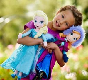 anna elsa plush frozen dolls