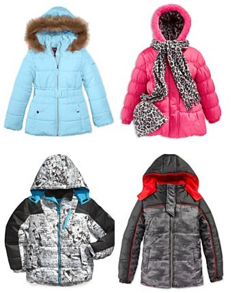 boys and girls puffer jackets