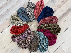 cents of style houndstooth infinity scarf