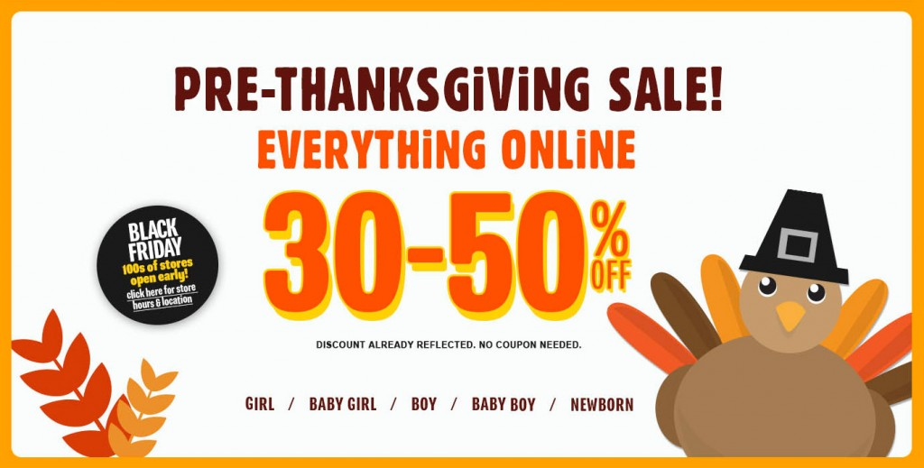 childrens place pre thanksgiving sale