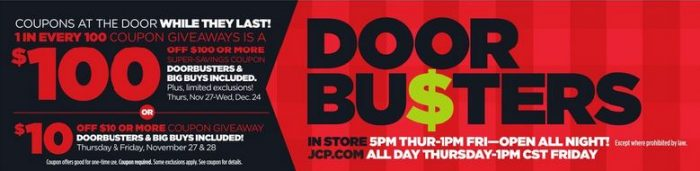 doorbuster coupons  sc 1 st  Utah Sweet Savings & Black Friday: JCPenney Ad Released! *Check Out the Highlight List ...