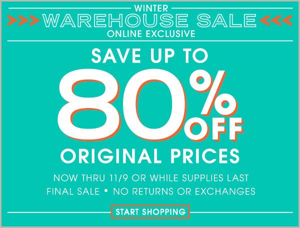 downeast winter warehouse sale