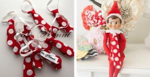 elf on the shelf neck tie