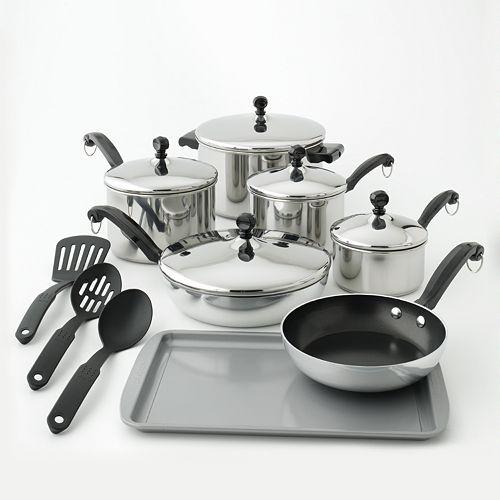 Farberware 15-pc. Stainless Steel Cookware Set $22.99 (Reg ...