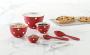 red pokadot bowls
