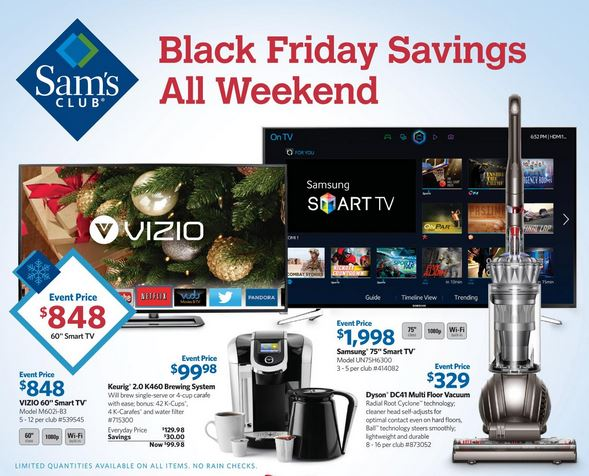 sams club black friday ad Sams Club Black Friday Ad! *List of Top Items*