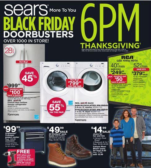 sears black friday ad Sears Black Friday Ad! *Shop Your Way Members Shop Nov. 20 21!*