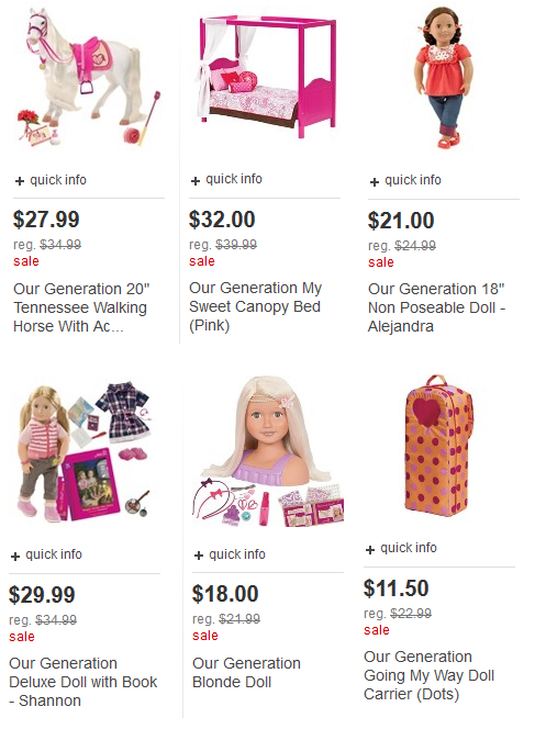target our generation dolls