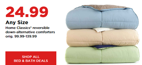 down alternative comforter king Home Classics Reversible Down Alternative Comforter for $19.99  down alternative comforter king
