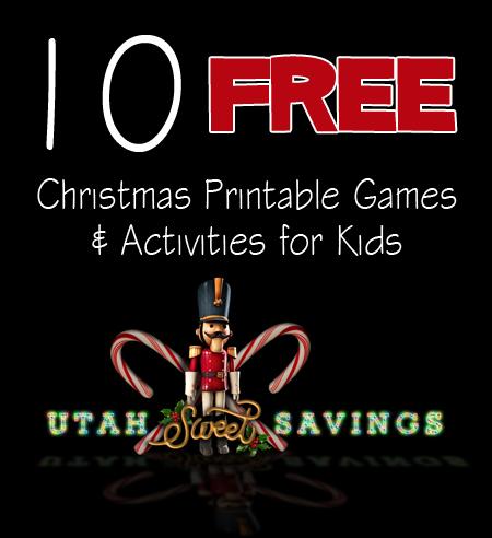 10 Free Christmas Printable Games & Activities for Kids copy