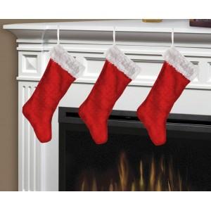 3 pack velvet holiday stocking