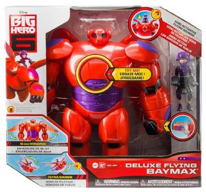 Big Hero 6 11 Deluxe Flying Baymax with 4.5 Hiro Action Figures