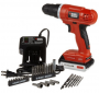Black & Decker LD120VA 20-Volt MAX Lithium-Ion Drill Driver with 30 Accessories