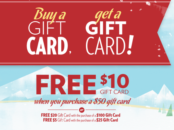 Cafe Zupas Free 10 Gift Card With Purchase Of 50 Gift Card Utah