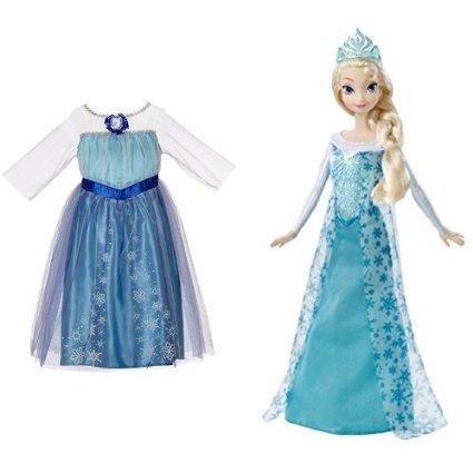 Disney Frozen Elsa Enchanting Dress and Sparkle Princess Doll