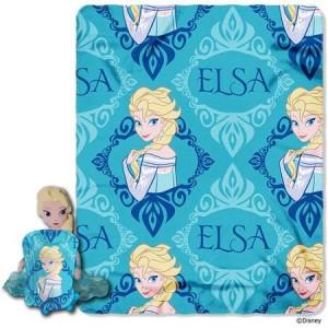 Disney's Frozen Elsa Character Pillow and Throw Set