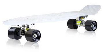 EightBit 22 Inch Complete Skate Board - Retro Skateboard - Bone Ninja