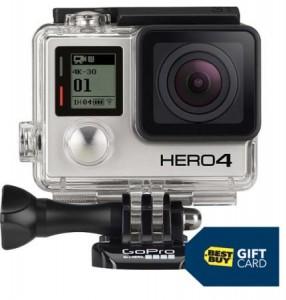 GoPro HERO4 Black 4K Action Camera & Free $50 Best Buy Gift Card