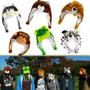 Plush Animal Flap Hats 2