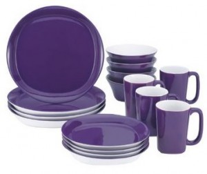Rachael Ray Dinnerware Round and Square 16-Piece Dinnerware Set