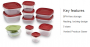 Rubbermaid 21-Piece Easy Find Lids Storage Containers kmart deal