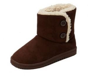 Sporto Womens Memory Foam Faux Sheepskin Shearling Boots