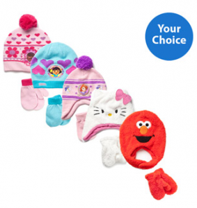 Toddler Character Hat and Mitten Gift Sets