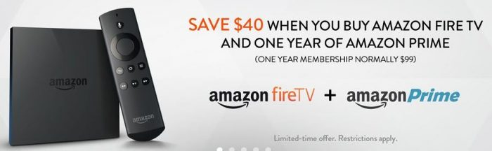 amazon fire tv and one year prime