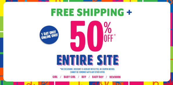 childrens place 50 off free shipping