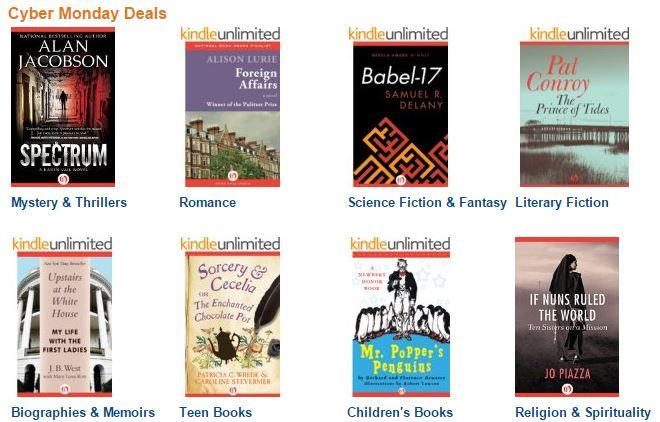 cyber monday book deals