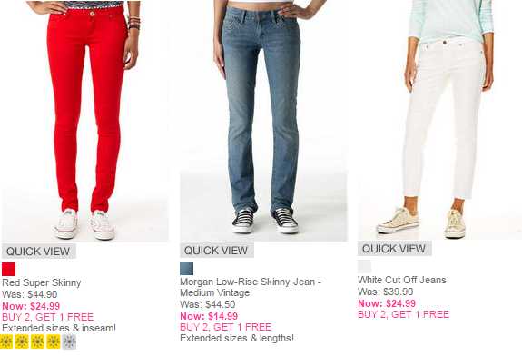 delias jeans