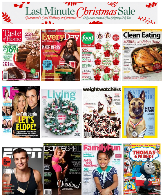 discountmags last minute christmas sale