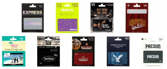 Gift Card Lightning Deals Today! *Cold Stone Creamery, Express ...