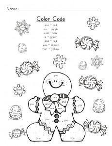 gingerbread man color code