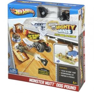 monster trucks 300x298 HOT WHEELS Monster Jam Mighty Minis Monster Mutt Playset $5.60 Shipped (Reg. $14.99)