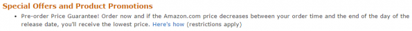 pre order price guarantee