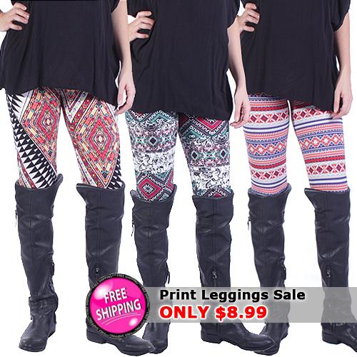 print leggings 8.99