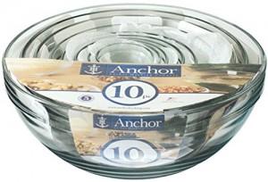 Anchor Hocking Glass Bowl 10 Piece Set