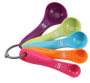 Baker's Secret 5-Piece Measuring Spoon Set, Multi-Color