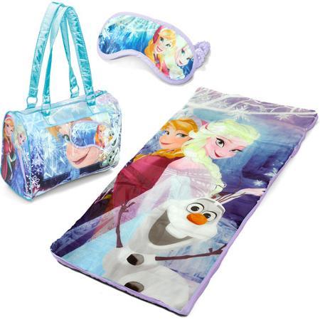 Disney Frozen 3-Piece Toddler Sleepover Slumber Sack with Purse and Bonus Eye Mask
