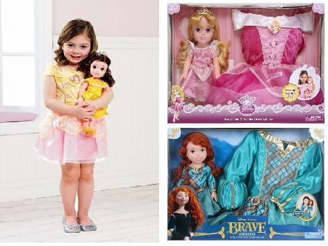 Disney Princess Doll & Toddler Dress Gift Set