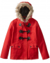 Dollhouse Big Girls' Toggle Coat with Faux-Fur Hood