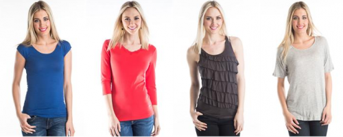 DownEast Basics Online Warehouse Sale Layering Tees for $5