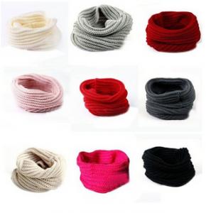 Juanshi Women Warm Infinity One Circle Knit Wool Blend Cowl Loop Scarf Shawl