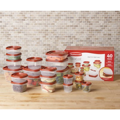 Rubbermaid 40-Piece Food Storage Set