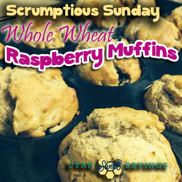 Scrumptious Sunday Healthy Whole Wheat Raspberry Muffins copy