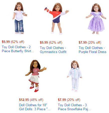 amazon lightning deals 18 doll clothes
