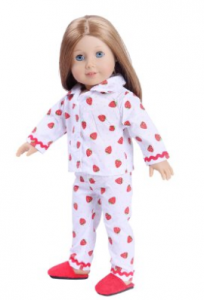 american girl stawberry pj