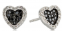 black diamon heart earings